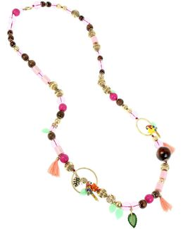 Beaded Station Necklace