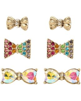 Bow Stud Earring Set