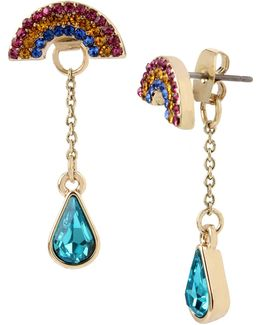 Pave Rainbow Jacket Earrings