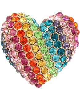 Rainbow Heart Stretch Ring