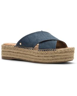 Natty Esapdrille Slip-on Flatform Sandals