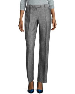 Heathered Linen Pants