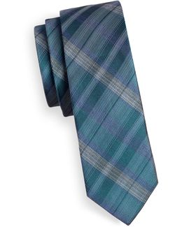 Slim Tonal Plaid Tie