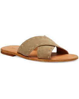 Avery Pickstitch Leather Slides