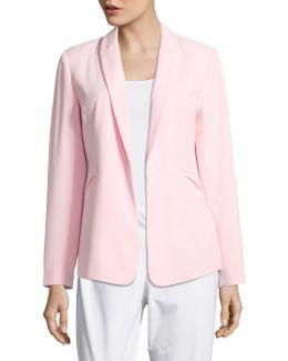Shawl Collar Kiss Front Jacket