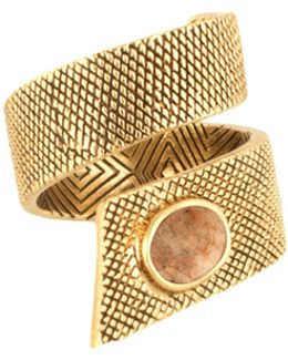 Tanta Crosshatch Silk Stone Ring