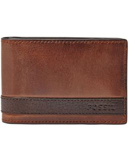 Quinn Money Clip Bifold Leather Wallet