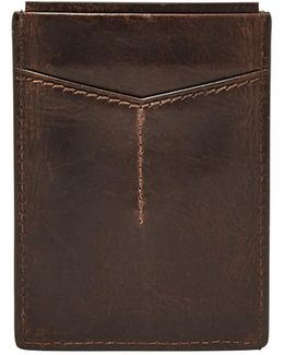 Derrick Leather Magnetic Card Case