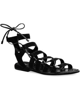 Blair Leather Side Ghillie Sandals
