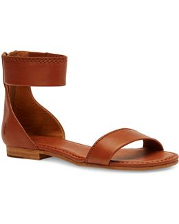 Carson Leather Zip Sandals