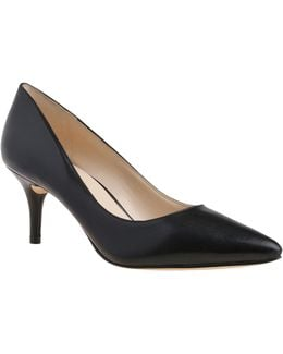 Margot Leather Mid-heel Pumps