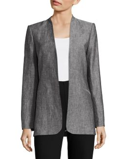 Heathered Linen Jacket