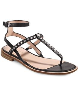 Studded Thong Sandals