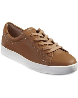 Illia Cervo Studded Leather Sneakers