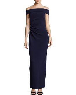Off-the-shoulder Column Gown