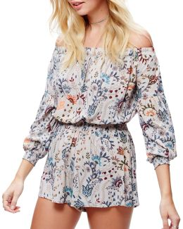 Pretty And Free One Piece Floral Playsuit