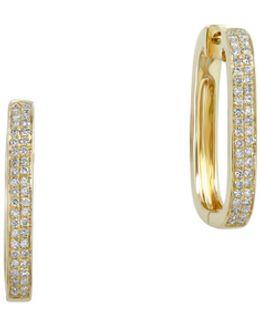 18k Yellow Gold And 0.34tcw Diamond Hinge Earrings