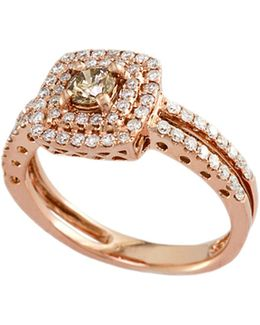 14k Rose Gold And 0.74tcw Espresso Diamond Ring
