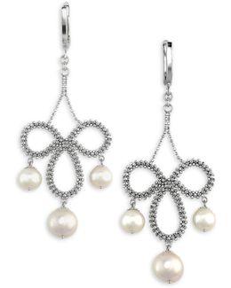 6.5mm-8.5mm Freshwater Pearl Chandelier Earrings