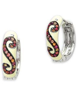 Multi-enamel Sterling Silver Earrings