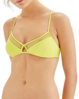 Wide Mesh Bikini Top