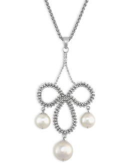8.5mm-10mm Freshwater Pearl, Chandelier Pendant Necklace