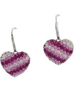 Pink Sapphire, Sterling Silver Earrings