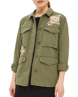 Floral Applique Shacket