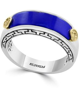Lapis Lazuli 18k Yellow Gold Sterling Silver Ring