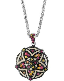 Sterling Silver And Multi Enamel Sterling Silver Necklace