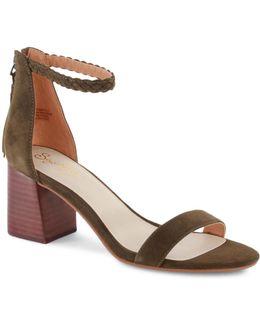Chunky Heel Fury Sandals