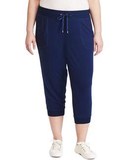 Plus Cropped Skinny Sweatpants