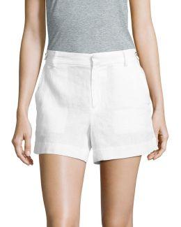 Linen Tab Shorts