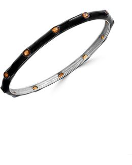 Citrine Sterling Silver Studded Bangle