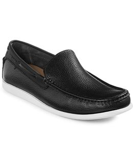Pot-lock Leather Loafers