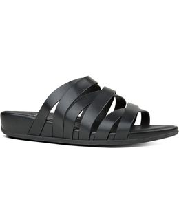 Lumy Leather Crisscross Slide Sandals