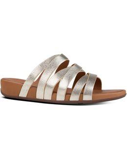 Lumy Leather Crisscross Slide Sandals