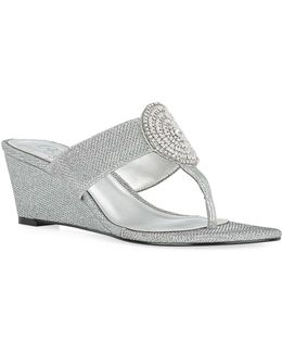Casey Thong Wedge Sandals