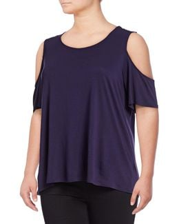 Plus Cold-shoulder Tee