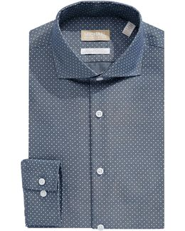 Slim-fit Dotted Dress Shirt