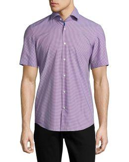 C-eraldino Gingham Sport Shirt