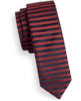 Horizontal Stripe Silk Tie