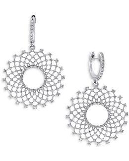 1.14 Tcw Diamond, 14k White Gold Earrings