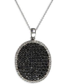 2.21 Tcw Two-tone Diamond, 14k White Gold Pendant Necklace