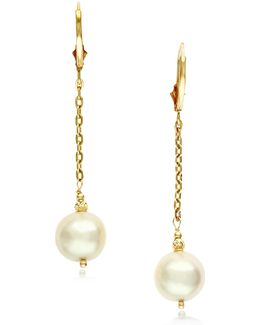10mm Freshwater Pearl 14k Gold Pendant Earrings