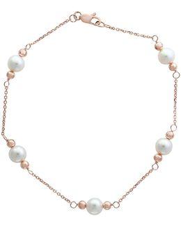 6mm Freshwater Pearl 14k Rose Gold Bracelet