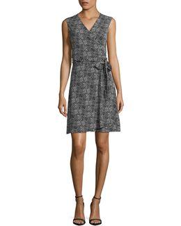 Pebble Print Wrap Dress