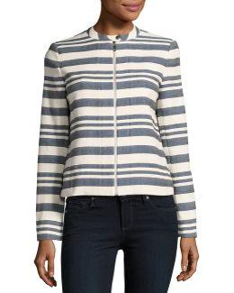 Woven Collarless Jacket