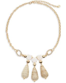 Triple Bead Drop Necklace