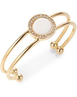 Stone Disc Bangle Bracelet